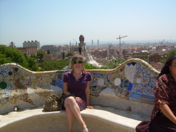 Gaudi's park, and a sunburn